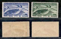 VATICANO - 1949 - UPU (18/19) - Serie Completa - Gomma Integra (220) - Sellos