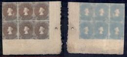 OLTREMARE - CILE - 1853 - 5 Cent (1) - Blocco Angolare Di 6 - Senza Gomma - Francobolli