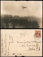"""ITALIA - AEROGRAMMI - 1910 (2 Settembre) - Ostenda - """"vedendo Volare..."""" - Cartolina Fotografica Con Wright In Volo - Francobolli"""