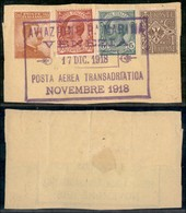 ITALIA - AEROGRAMMI - 1918 (17 Dicembre) - Venezia Posta Aerea Transatlantica - Frammento - Sellos