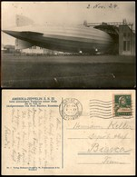 ITALIA - AEROGRAMMI - 1924 (2 Novembre) - Zeppelin ZR III - Cartolina Da Basilea Per Biasca - Sellos