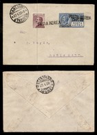 ITALIA - AEROGRAMMI - 1928 (22 Aprile) - Cagliari Ostia - Rara Affrancatura - Longhi 1810 - Sellos