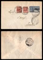 ITALIA - AEROGRAMMI - 1928 (11 Giugno) - Milano Trento - Rara Affrancatura - Longhi 1848 - Sellos