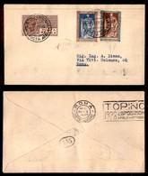 ITALIA - AEROGRAMMI - 1928 (29 Ottobre) - Milano Roma - Rara Affrancatura - Longhi 1870 - Sellos