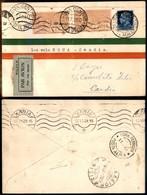ITALIA - AEROGRAMMI - 1929 (11 Luglio) - Roma Creta - Longhi 1948 - 10 Volati - Sellos