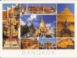 Thailand Postcard Sent To Denmark 21-7-2000 (Wat Phra Keo Bangkok) - Thaïlande