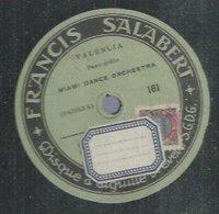 "78 Tours - MIAMI DANCE ORCHESTRA  - SALABERT 161  "" VALENCIA "" + "" C'ETAIT MOI  "" - 78 Rpm - Gramophone Records"
