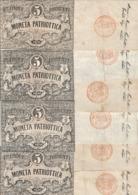 Italy Venice Venezia 5 Lire 1848 (Price For 1 Banknote) - Altri