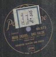 """78 Tours - ORCHESTRE HAWAÏEN GINO BORDIN  - PARLOPHONE 80973  """" DEUX COEURS... UNE VALSE """" + """" BLOWING BUBBLES """" - 78 Rpm - Gramophone Records"""