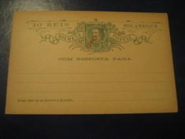 10 Reis + 10 Reis Com Resposta Paga Rep Op Bilhete Postal Moçambique MOZAMBIQUE Portugal Colonies Postal Stationery Card - Mozambique