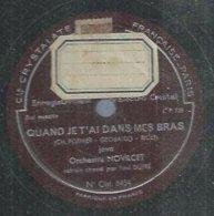 """78 Tours - ORCHESTRE NOVILCET  - CRISTAL 5454  """" QUAND JE T'AI DANS MES BRAS """" + """" A SAINT FARGEAU """" - 78 Rpm - Gramophone Records"""