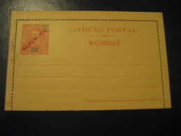 25 Reis Cartao Postal Republica Red Overprinted Moçambique MOZAMBIQUE Portugal Colonies Postal Stationery Card - Mozambique