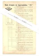 """Mode D'emploi Bilingue ( FR/NL ) De La Radio  SBR """"374 """" ( 2 Volets ) +/- 1960 ??(b263) - Literature & Schemes"""