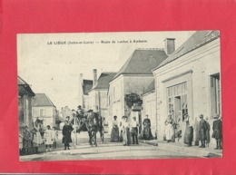 CPA - Le Liège -(Indre Et Loire) - Route De Loches à Amboise -(vignette Au Verso Contre La Tuberculose) - France