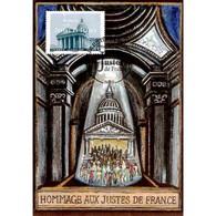 CM CEF - Hommage Aux Justes De France - 18/1/2007 Paris - Cartes-Maximum