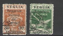 VEGLIA 1920 ESPRESSI SERIE CPL.  USATA - 8. WW I Occupation