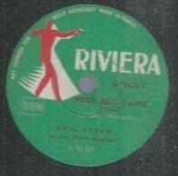 """78 Tours - EMIL STERN  - RIVIERA 1476  """" VOUS QUE J'AIME """" + """" LINE """" - 78 Rpm - Gramophone Records"""