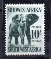 Sello Nº 248 Suidwes-afrika - Elefantes