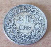 Suisse / Switzerland - Monnaie 2 Francs 1937 En Argent - Suisse