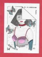 CPM Illustrateur Jean Luc Perrigault. 75 Paris. La Pirate,salon Numicarta 29,30 Janvier 1988. - Illustrateurs & Photographes