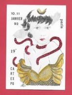 CPM Illustrateur Jean Luc Perrigault. 75 Paris. Femme,salon Numicarta 10,11 Janvier 1992 - Illustrateurs & Photographes