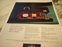 ANCIENNE PUBLICITE SPORTIVE OU ELEGANTE  MONTRE OMEGA 1966 - Jewels & Clocks