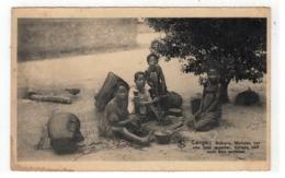 Congo: Bokoro, Meisjes Ver Van Hun Moeder,zorgen Zelf Voor Hun Eten 1929 - Congo Belge - Autres