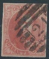 TB: Nr 12 Oblitéré P21 Boussu - 8 Barres - Belles Marges - 1858-1862 Medallones (9/12)