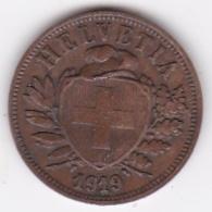 SUISSE. 2 RAPPEN 1919 B. BRONZE - Suisse