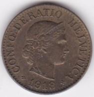 Suisse. 10 Rappen 1918 B. Laiton - Suisse