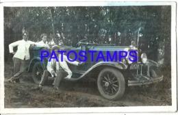 120651 ARGENTINA AUTOMOBILE OLD CAR AUTO CONVERTIBLE & MAN'S 11 X 6.5 CM PHOTO NO POSTAL POSTCARD - Postcards