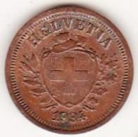 SUISSE. 1 RAPPEN 1934 B. BRONZE - Suisse
