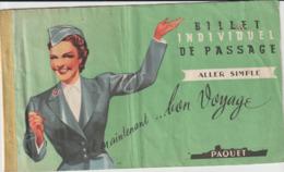 Compagnie Paquet, Java -> Marseille, 1957, 4è Classe (3 Scans) - Billets D'embarquement De Bateau