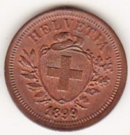 SUISSE. 1 RAPPEN 1899 B. BRONZE .SUP /XF - Suisse