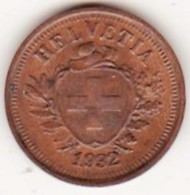 SUISSE. 1 RAPPEN 1932 B. BRONZE .SUP /XF - Suisse