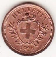 SUISSE. 1 RAPPEN 1926 B. BRONZE .SUP /XF - Suisse