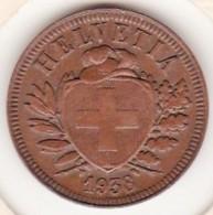 SUISSE. 2 RAPPEN 1938 B. BRONZE - Suisse