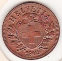 SUISSE. 2 RAPPEN 1909 B. BRONZE SUP/XF - Suisse