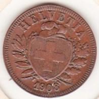 SUISSE. 2 RAPPEN 1908 B. BRONZE SUP/XF - Suisse