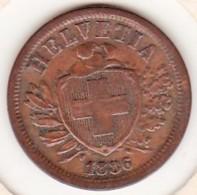 SUISSE. 2 RAPPEN 1886 B. BRONZE - Suisse