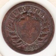 SUISSE. 2 RAPPEN 1850 A. BRONZE - Suisse