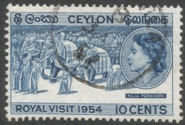 Ceylon. 1954 Royal Visit. 10c Used. SG 434 - Sri Lanka (Ceylon) (1948-...)