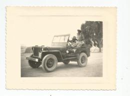 Photographie Guerre Algérie Jeep  Chasseur Alpin Du 62 Bca  Photo 8x10,6 Cm Env - Krieg, Militär