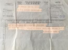 Belgique, 3 Télégrammes. - Telegraph