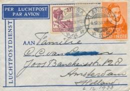 Nederlands Indië - 1933 - 3 Zegels Op LP-cover Van LB LANGSA Naar Amsterdam / Nederland - Indie Olandesi