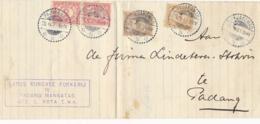 Nederlands Indië - 1921 - 4 Zegels Op Vouwbrief Van LB PAJAKOMBO Naar Padang - Niederländisch-Indien