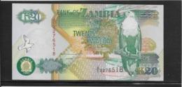Zambie - 20 Kwacha - Pick N°36a - NEUF - Zambie