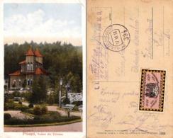 PITESTI / ARGES : PARCUL TRIVALEA - CARTE POSTALE VOYAGÉE En 1918 Par POSTE MILITAIRE : K.u.K. FELDPOSTSTAMT 394 (ad003) - Roumanie