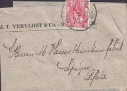 Netherlands J. T. VERVLOET & Co. ROTTERDAM 1921 Wrapper Streifband Bande Journal Munitionsfabrik SPEYER A. Rhein Germany - Periode 1891-1948 (Wilhelmina)