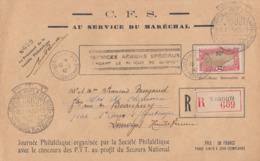 Enveloppe  COTE  FRANCAISE  Des   SOMALIS    Journée  Philatélique   Blocus  De  DJIBOUTI   1942 - Côte Française Des Somalis (1894-1967)